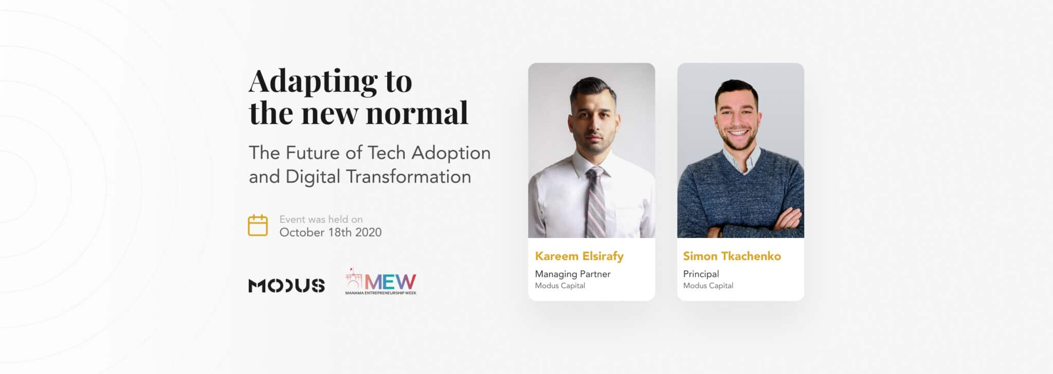 Adapting to the New Normal-MEW2020